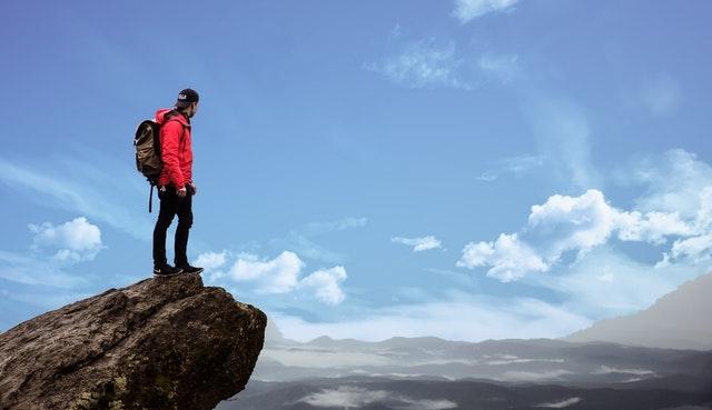 Man top berg