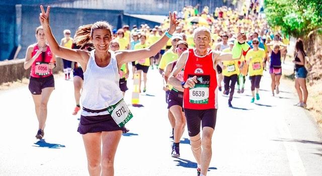 vrouw marathon